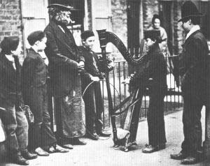 Italian street musicians in London, 1877. From Street Life in London (Guildhall Library)