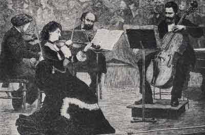 Drawing of a chamber music concert, 2 March 1972 (Illustrated London News)